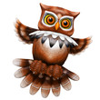 Owl Cartoon 3d