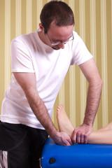 Physionthearapie für Fußgelenk