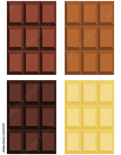 Geometric chocolate texture