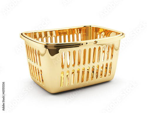 Golden shopping basket