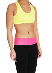 Body of exercises girl.