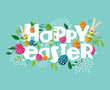 Colorful Happy Easter composition - 63152516