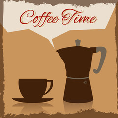 Coffee time background.