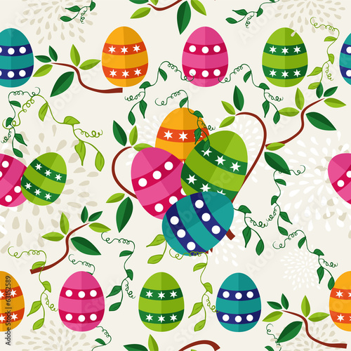 Colorful Easter pattern eggs