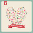 Happy Mothers day heart elements composition