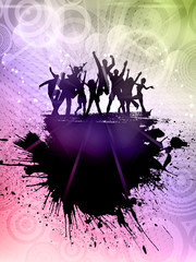 Grunge party background