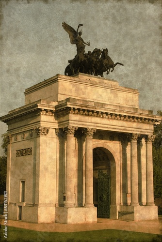 Wellington arch in London, UK - Vintage