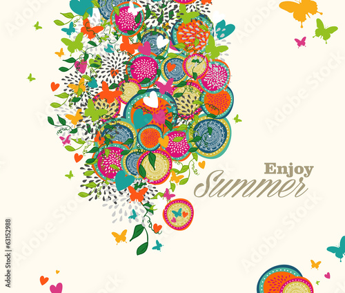Summer flowers illustration