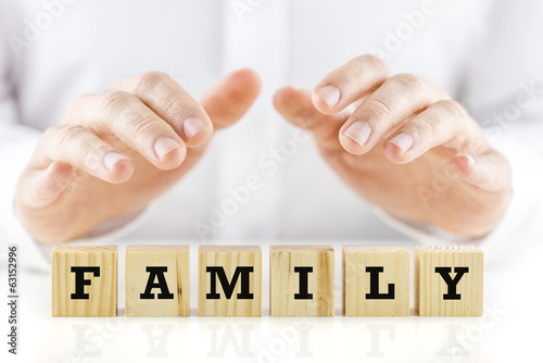 Conceptual image with the word Family