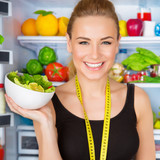 Fototapety Dietitian with fresh salad