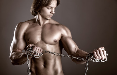 Man with a chain