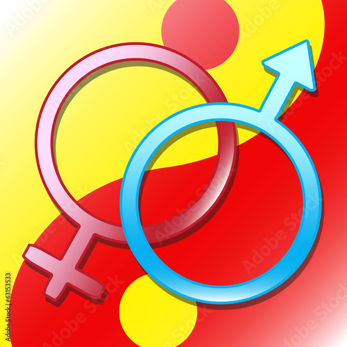 vector background venus mars male and female symbol