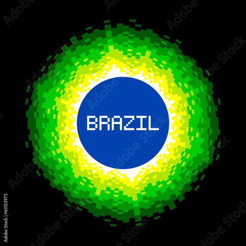 8-Bit Pixel-art Brazil World Concept
