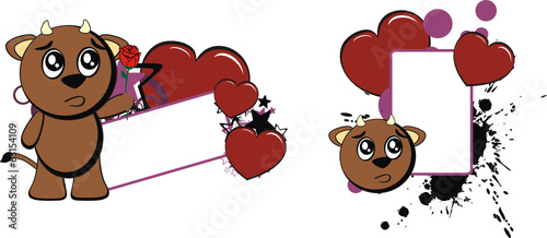 bull baby cute cartoon copyspace love