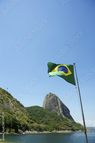 Brazilian Flag Red Beach Sugarloaf Rio Brazil