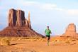 Runner - Running man sprinting in Monument Valley