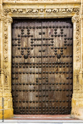 Door of the Basilica of St. Mary of the Assumption in Cadiz.