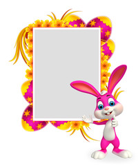 cute easter bunny with best sign