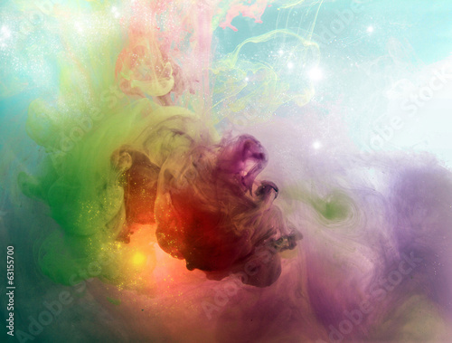 Deurstickers Rook colorful abstract
