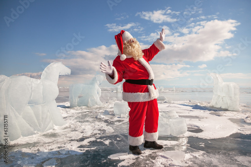 Santa Claus standing outdoors