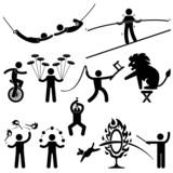 Circus Performers Acrobat Stunt Animal People Man poster