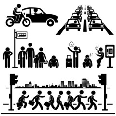 Urban City Life Hectic Street Traffic Busy Rush Hour