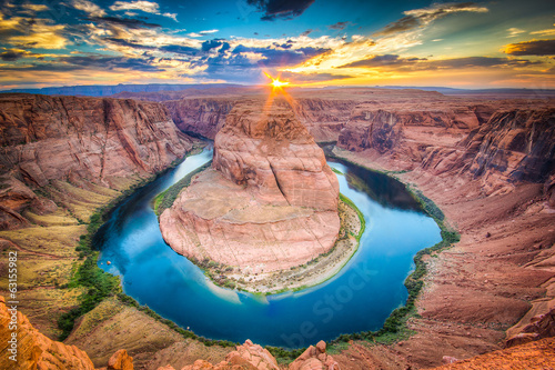 Poster Landschappen Horseshoe Bend, Coloradoa and Grand Canyon, Arizona