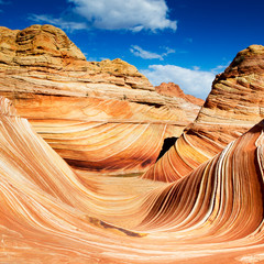 The Wave, rocky desert in Arizona, USA