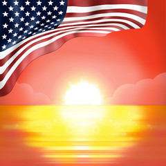 Sunset Horizon America