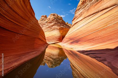 Leinwandbild Motiv The Wave in Arizona, reflections
