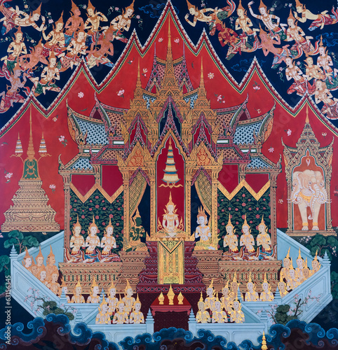 Native Thai mural painting
