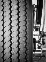 Motorcycle tire detail