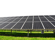 Solar energy panels on white background