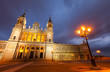 Almudena cathedral at Madrid in twilight