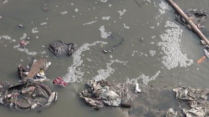 catastrophic water pollution in asia Katmandu, Nepal.