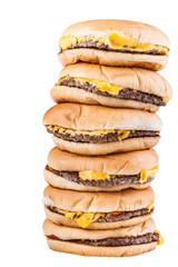Piled burgers