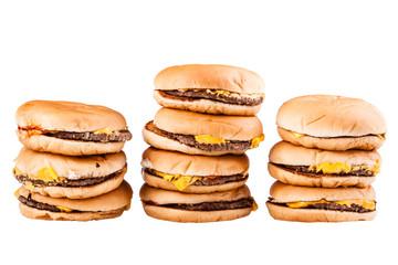 Burger piles