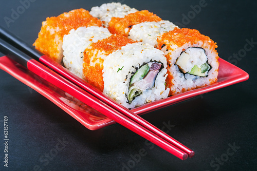 Japanese rolls on sticks