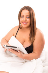 Large woman relaxing