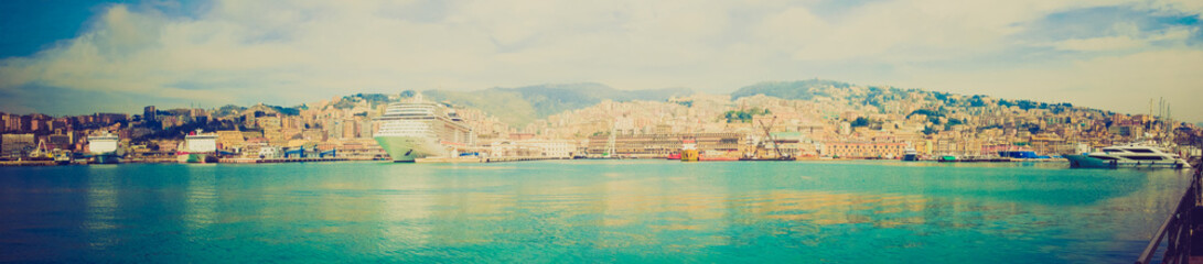 Retro look Genoa panorama