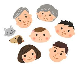 三世代家族(顔)