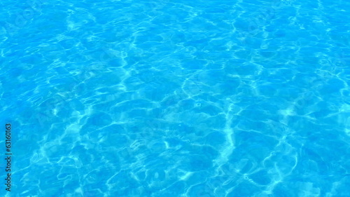 Beautiful refreshing blue swimming pool water