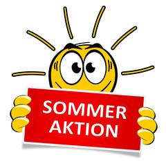 Sonne Schild Sommeraktion