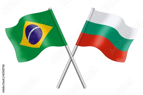 Flags: Brazil and Bulgaria
