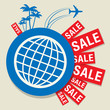 Travel Sale abstract design, vector illustration