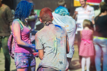 The color Holi Festival