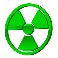 Radioactive 3d icon