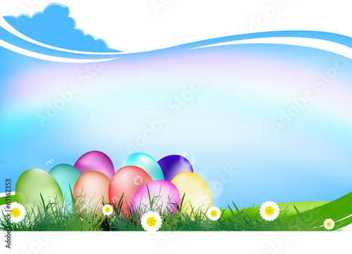 Easter Eggs.Holiday. Happy Easter.Vector
