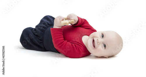 canvas print picture smiling toddler isolated in white background