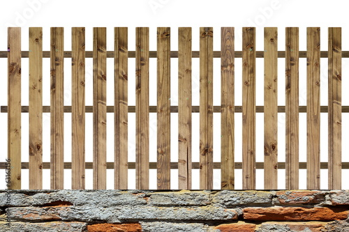 isolated planks fence